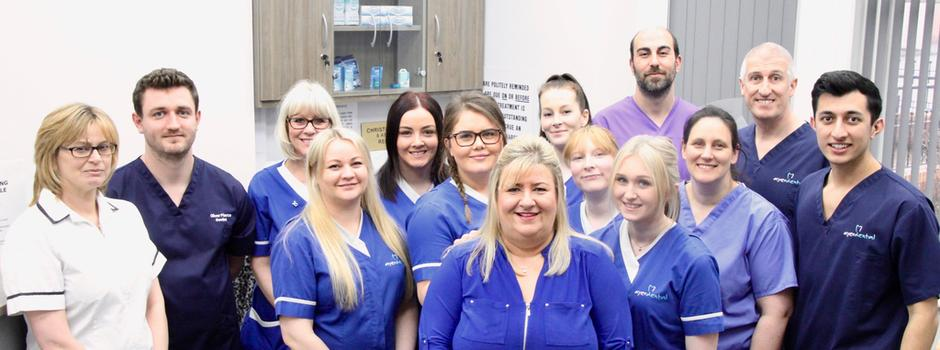 Meet the team AyerDental Christopher Ayer, Shaunna Hall, Antonios Zerdalis, Caroline Limbert, Oliver Pierce, Abigail Holgate, Janan Pakurek, Emma Welham, Samantha Padley, Kimberley Henderson, Nickie Clark, Nathan Ayer